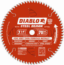 Freud D0770F 7-1/4-Inch 70-TPI Ferrous Metal-Cutting Saw Blade - Quantity 1