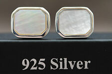 "925 sterling silver ""Mother of pearl"" cufflinks"