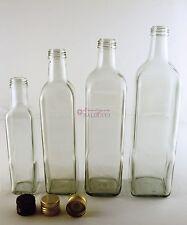 N°20 Bottiglie marasca per olio da 1 litro con tappo a vite in alluminio