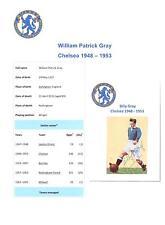BILLY GRIGIO Chelsea 1948-1953 RARA ORIGINALE A MANO FIRMATO QUADRO taglio