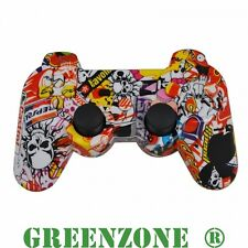 Sticker Bomb Replacement PS3 Controller Shell Mod Kit + Matching Buttons Mod Kit