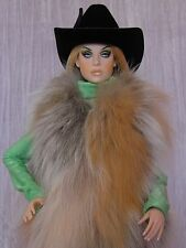 "AllforDoll COWGIRL VEST Red Fox Fur for 16"" Cami Tyler Sydney Tonner Gene Dolls"