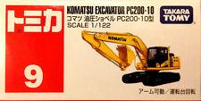 Tomy Tomica No.9 KOMATSU EXCAVATOR PC200-10 1 : 122