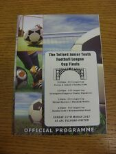 25/03/2012 Football Programme: Telford Junior Youth League Cup Finals - U13, U14
