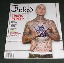 Travis Barker signed Inked Blink 182 Baron von tito TRV$DJAM +44 photo proof