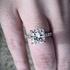 Perfect 1.41 ct. Radiant Cut Diamond Engagement Ring Pave 14k EGL Certified I,VS