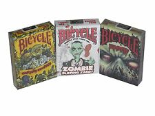 Set of 3 Decks Zombie Standard Poker Playing Cards Zombies, Zombified, Everyday