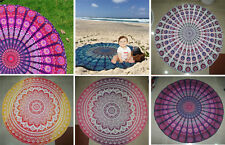 5 Wholesale Lot Indian LOTUS Mandala Roundie Beach Throw Towel Tapestry YogaMat