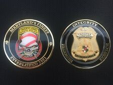 MARYLAND STATE POLICE DRUG ENFORCEMENT DIVISION COIN Thin Blue Line Edition
