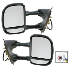 Side View Mirrors Power Towing Folding Pair Set for 99-04 Super Duty Truck