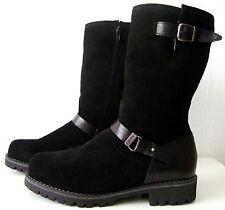 ESPRIT Damen Stiefel Leder Boots Wadenhohe Winterstiefel Schwarz Gr.40 NEU