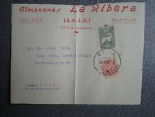 GUERRA CIVIL FRONTAL CARTA ÉPILA ZARAGOZA CIRCULADA MOVIL REPÚBLICA AÑO 1937