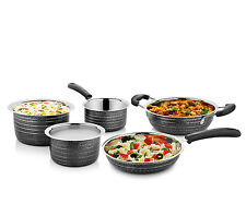 Cookaid Elite Black Stainless Steel Cookware Set - 5 Pcs