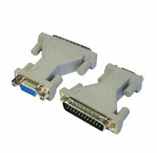 9 Pin Serial Rs 232 Db9 Hembra A Db25 Pines Macho A Paralelo Adaptador Convertidor