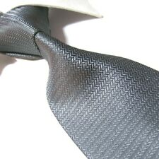 Extra Long Polyester Woven Tie,Microfibre Gray Solid Men's XL Necktie PL353 63""