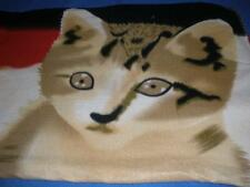 LOVELY  BABY COT BLANKET POLYESTER CAT  PATTERN