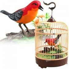 Singing  Chirping Bird in Cage - Realistic Sounds  Movements, New, Free Shipping