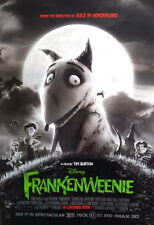 Frankenweenie Tim Burton Animation Original 2 Sided 27X40 Movie Poster Rare, Dou