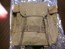 Original Vintage Italian Army Alpini Canvas Backpack - W/ EXTRA  -  RARE!!