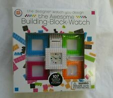 BNIB BUILDING BRICKS WORKING WRIST WATCH, BUILD UR OWN! COLOUR & FACE 107 PIECES