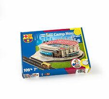 BARCELONA CAMP NOU FOOTBALL STADIUM 3D JIGSAW PUZZLE 109 PIECES
