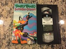 DAFFY DUCK'S EASTER EGG-CITEMENT OOP VHS 1980 LOONEY TUNES KIDS FAMILY CARTOON!