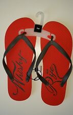 New Gap thong Flip Flops Deep Orange Whiskey and Rye Men's Sz 12