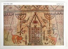 Antique Synagogue Mosaic POSTCARD Jewish Menorah Temple Sefer Torah Ark, Judaica