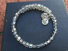 ALEX and ANI VINTAGE 66 SLATE STARRY-EYED SWAROVSKI CRYSTAL Beaded WRAP BRACELET