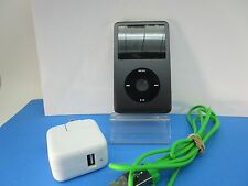 Apple iPod classic 7th Gen GRAY (120 GB) BIG BUNDLE GREAT COND, OVER 800 SONGS