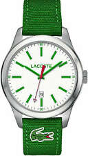 Men's Lacoste Auckland Green Weaving Strap Watch 2010777