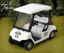 DieCast Golf Cart & 2 Sets of Golf Clubs G Scale 1:24 by Kinsmart