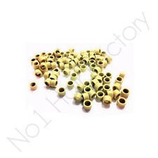 New 1000 Hair Extension Micro 4mm Screw Rings Beige colour