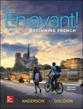 NEW Avant: Beginning French by Bruce Anderson Hardcover Book (English) Free Ship