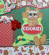 Christmas Cookies 2 premade scrapbook pages layout paper piecing for album