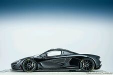 1:18 Tecnomodel McLaren P1 Model Car Black and Carbon Fiber