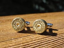 .45 Caliber Cufflinks -- Ammo Ammunition Brass Bullet