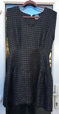 REISS SHORT TEXTURE BLACK & GOLD DRESS PARTY CHRISTMAS UK 14 US 10
