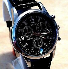Men's Modern Dress Watch: HOMAGE to Tissot PRC 200 (BLACK Face/BLACK Band) NEW!