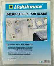 Lot of 6 Lighthouse ENCAP Clear Certified Graded Coin Slab Album Pages PCGS NGC