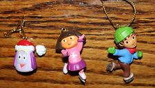 Set 3 Dora Explorer, Boy, & Backpack 2005 Christmas Holiday Tree Ornaments 2""