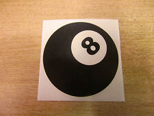 Magic 8 Ball - vinyl sticker / decal - 100mm black pool