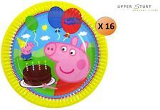 Peppa Pig Paper Plates 16 Pack Party Plate Party Supplies FAST 'N FREE DELIVERY