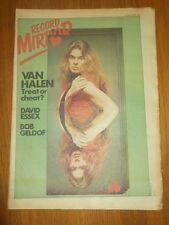 RECORD MIRROR OCTOBER 21 1978 VAN HALEN BOB GELDOF DAVID ESSEX SEX PISTOLS