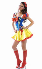 Womens Snow White princess fancy dress party costume outfit socks 8-10 S New