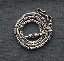 Great quality 925 Sterling silver neat looking Byzantine 3mm thick necklace 16.5
