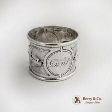 Aesthetic Foliate Repousse Napkin Ring DSR 1 Coin Silver 1870