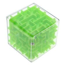 Green 3D Maze Magic Cube Toy 3D Labyrinth Rolling Ball Toy For Children & Adult