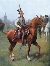 PAINTING MILITARY CHELMINSKI POLISH OFFICER IMPERIAL LANCERS PRINT POSTER LF655