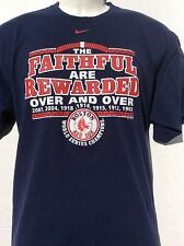 NIKE Boston Red Sox 2007 Series Champions THE FAITHFUL ARE REWARDED T Shirt sz L